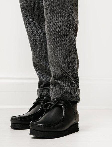 Yuketen Mens Yuks Type 2 Vaqueta shoes - Black