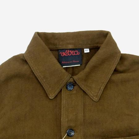 Vetra Workwear Chore Cotton/Linen Herringbone Jacket - Caramel