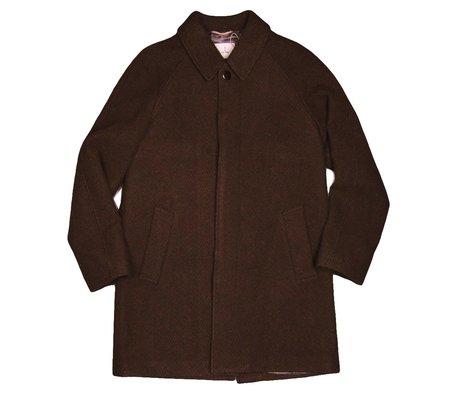 La Paz Couto Wool Jacket - Brown Herringbone