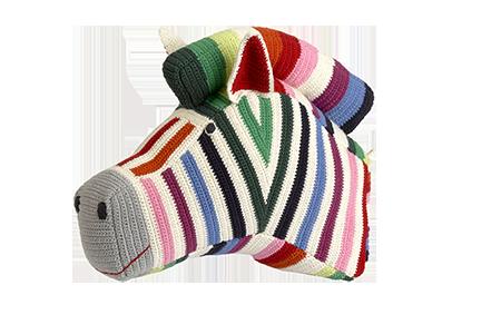 Anne-Claire Petit Zebra Multi-Colored Zebra Trophy Head - Dodo Les Bobos