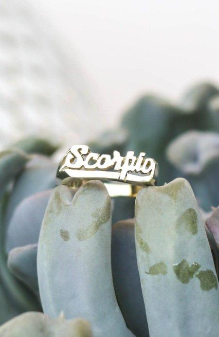 Snash Scorpio Zodiac Ring - Gold