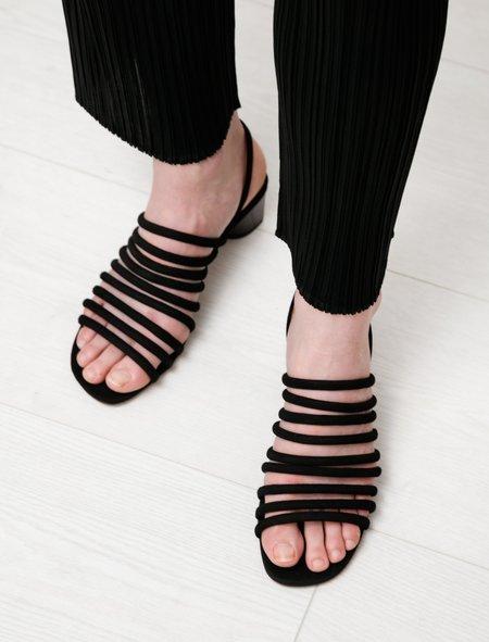 Robert Clergerie Leone Strappy Suede Sandals - Black