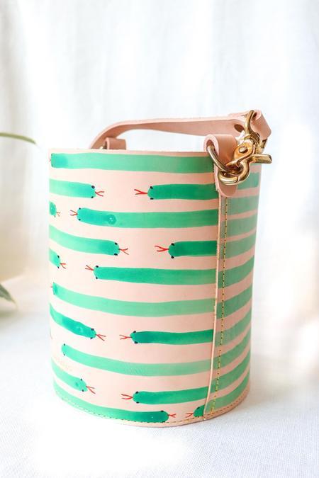 Lillian Farag Snake Bucket Bag