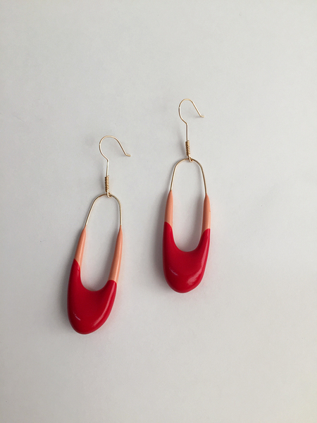 Bartleby Objects Devika Earring - Pink/Red