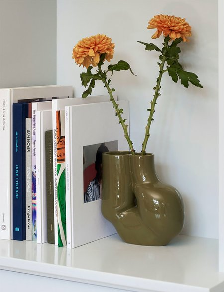 Hay Chubby Vase - Olive Green