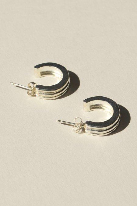 BRIE LEON Large Ranura Earrings - Silver plated/brass