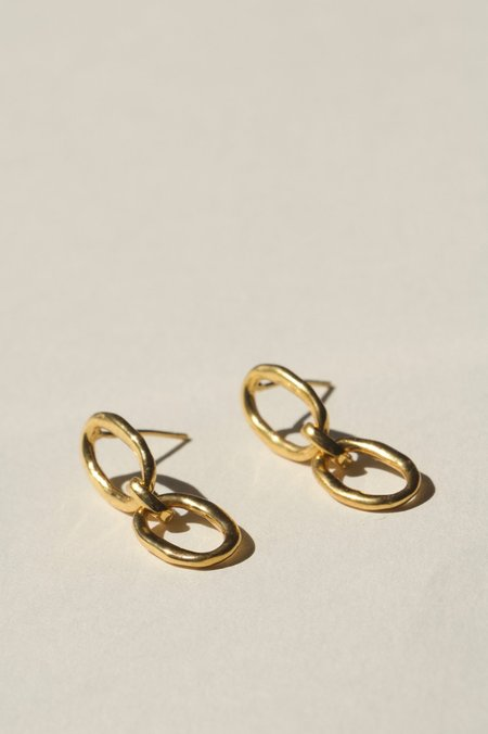 BRIE LEON Link Chain Stud Earring - Gold plated/brass