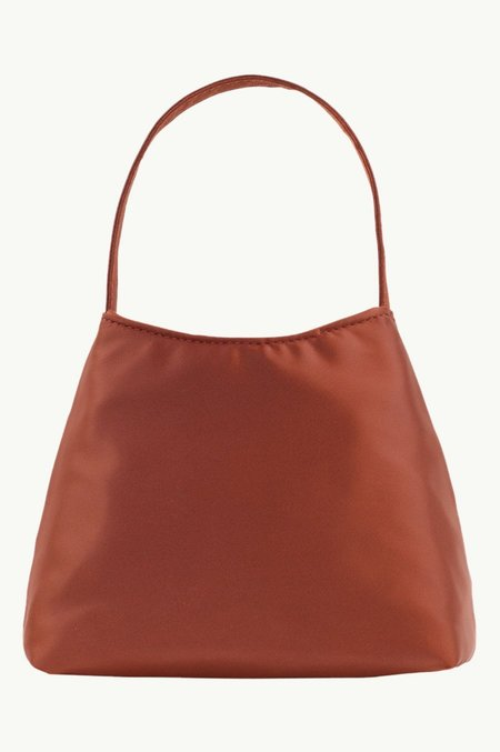 BRIE LEON The Mini Chloe  Satin bag - Desert Red
