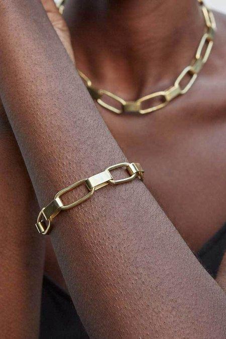 Soko Capsule Link Bracelet - Brass