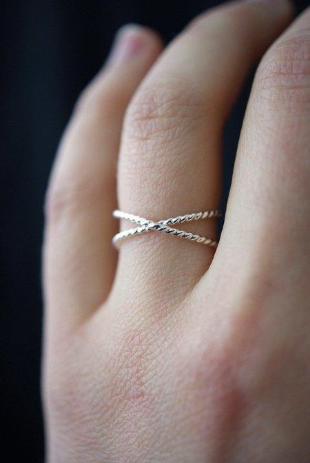Hannah Naomi Twisted X Ring - Silver