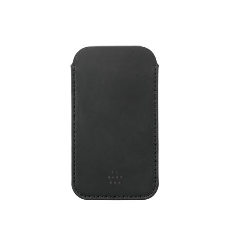 unisex MAKR iPhone Sleeve case - Black Horween