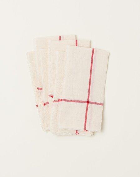 Auntie Oti Natural Napkin Set - Red