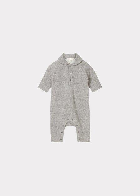 Kids Caramel Smew Baby Romper - Grey Melange