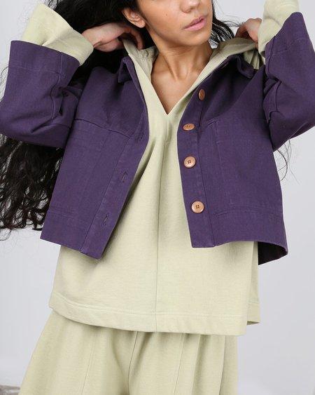 Ilana Kohn Mabel Crop Jacket - Nightshade