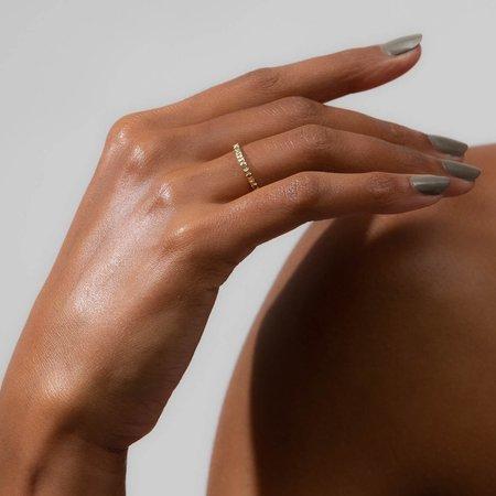 Unisex Shahla Karimi Deco Detail Band - 14k Yellow/Rose/White Gold