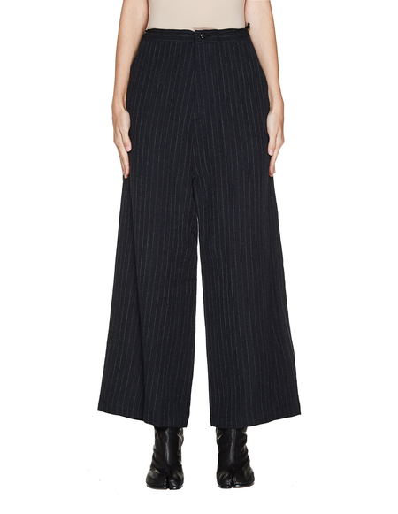 Y's Black Striped Trousers