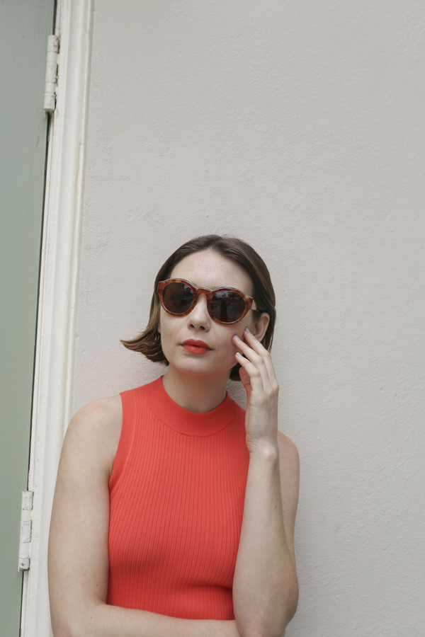Kate Young x TURA Sunglasses in Amber