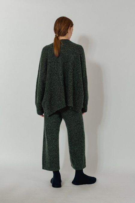Unisex Oyuna Danika Knitted Cashmere Pullover and Cropped Trousers Duo - Moss