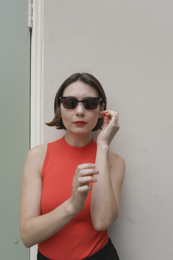 Kate Young x TURA Sunglasses in Black