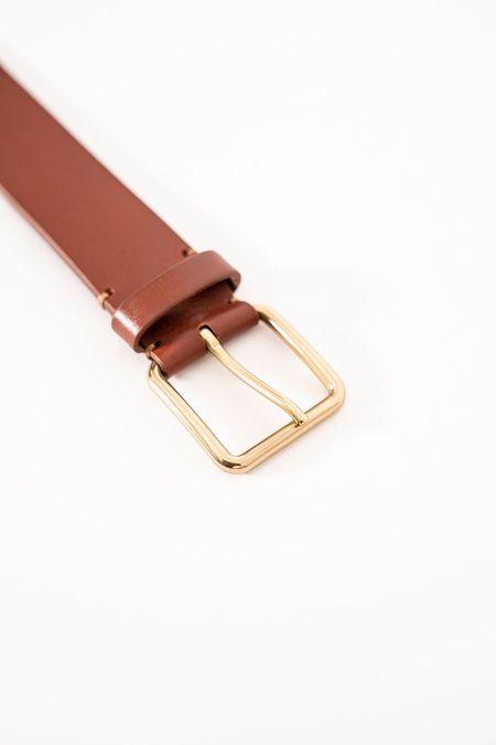 zamt Leather belt - dark brown