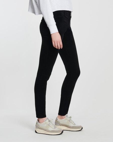 J Brand 815 Velvet Mid Rise Super Skinny - Black