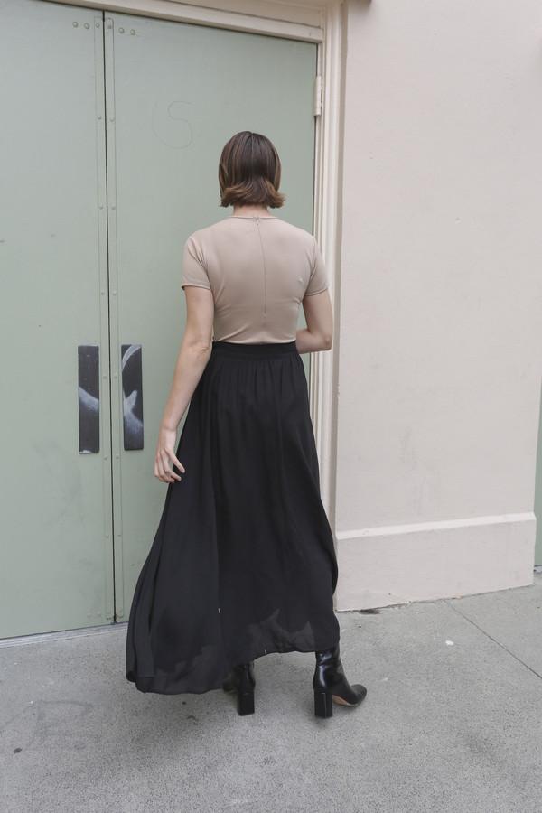 NONNA Vintage Byblos Semi-Sheer Long Black Skirt