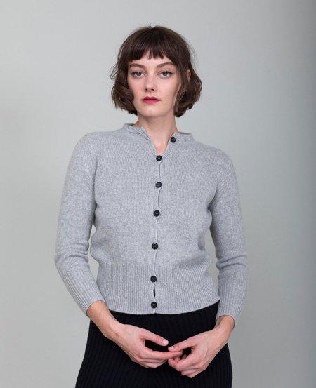 M J Watson Button Cardigan - Heather