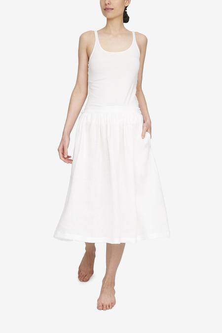 The Sleep Shirt Linen House Skirt - White