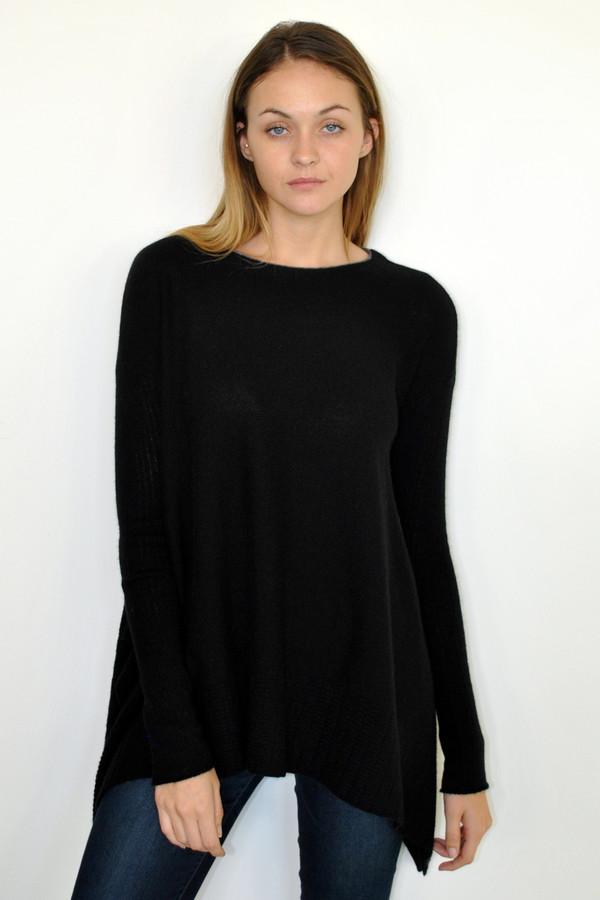 LOMA Handkerchief Ribbed Sleeve Sweater
