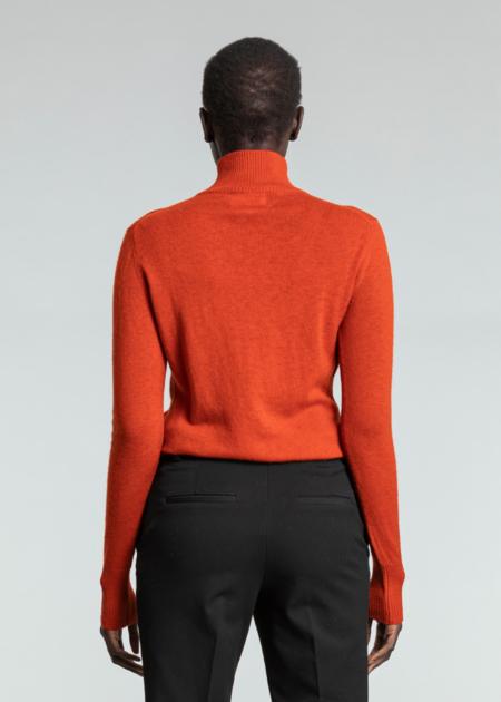 Dinadi Merino Turtleneck - Burnt Orange
