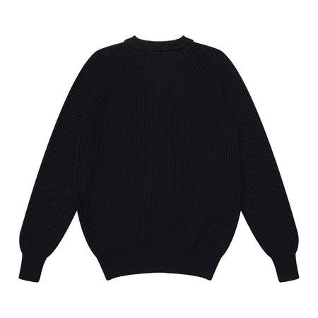 Knickerbocker Heavy Rib Cotton Sweater - Black