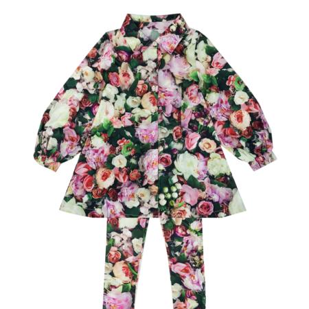 Kids Romey Loves Lulu Peonies Gigi Dress