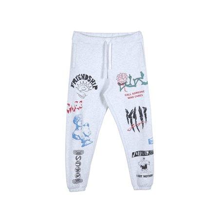 Jungles Print Sweatpants - White