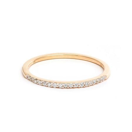 Adina Reyter Pavé Band Ring - 14k yellow gold