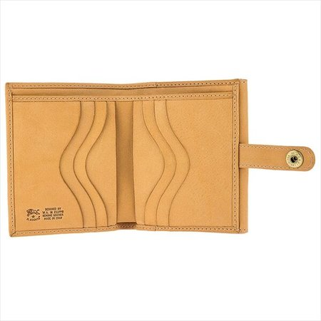 il bisonte Cowhide Leather Wallet - natural