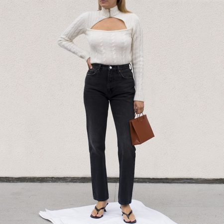RE/DONE 70s Straight Leg Jeans - Black 10