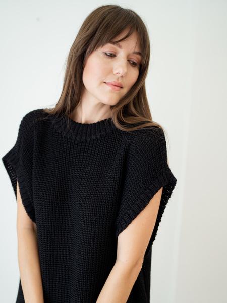 Laude The Label Sleeveless Tunic Sweater - Ink