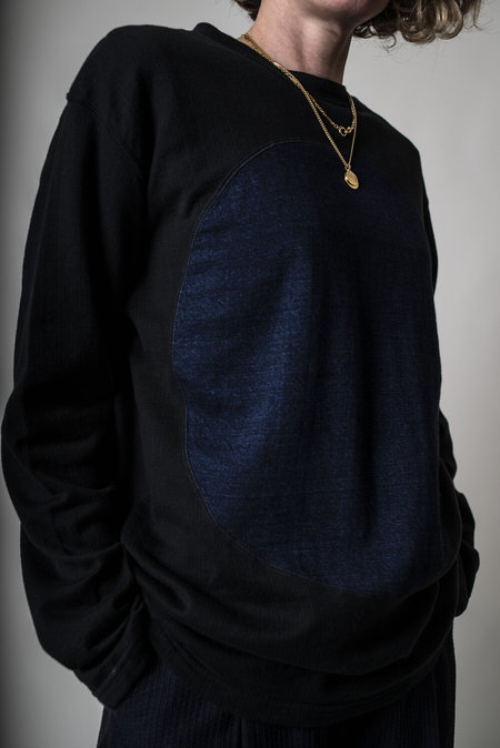 Blue Blue Japan Dual Layered Indigo Sweatshirt