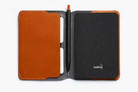 Bellroy notebook cover mini & pen - caramel