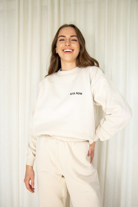 Unisex Rita Row Lucas Organic Cotton Sweatshirt - Beige