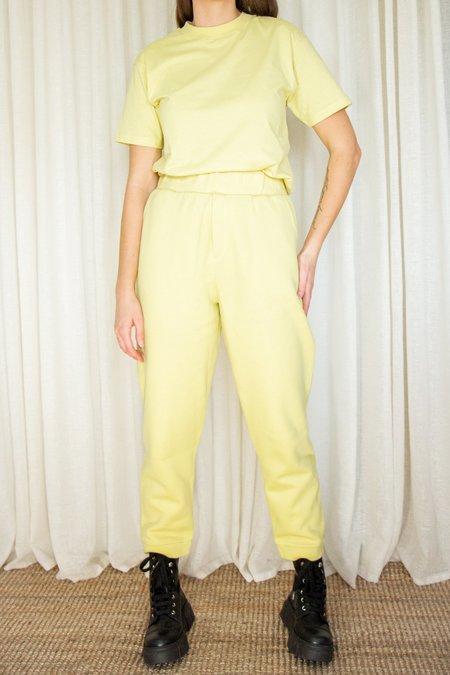 Unisex Rita Row Vela Organic Cotton Sweatpants - Lime Yellow