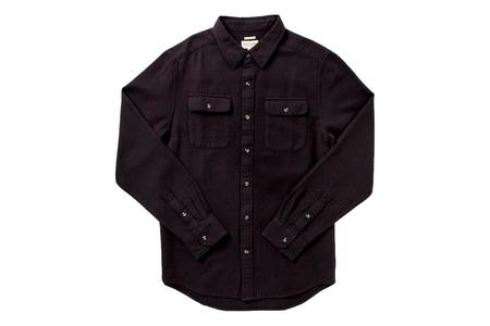 Bridge & Burn Bedford Shirt - Black Herringbone