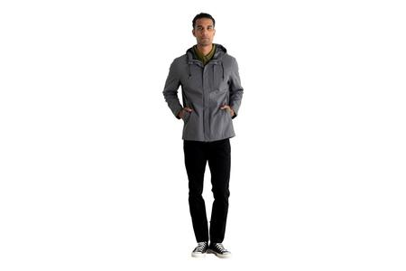 Bridge & Burn Stanton Recycled Rain Jacket - Charcoal