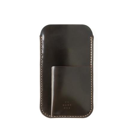 UNISEX MAKR Cordovan Card Holder iPhone Sleeve case - Dark Cognac