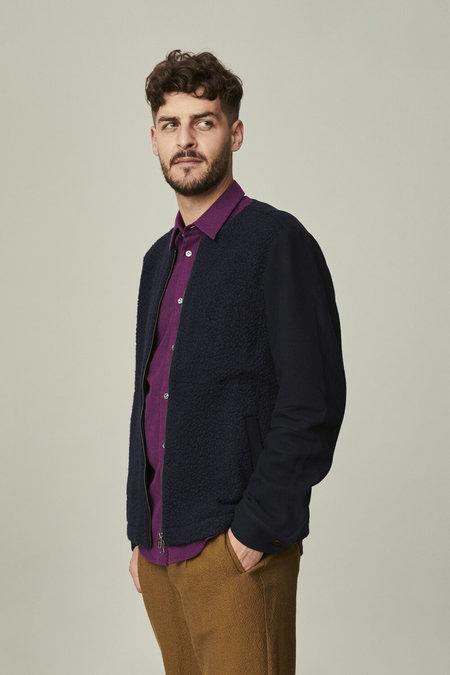 Delikatessen Contrasting Sleeve Fabric Jacket - Navy
