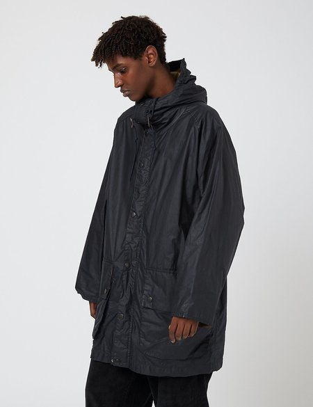 Barbour Hiking Waxed Cotton Jacket - Navy