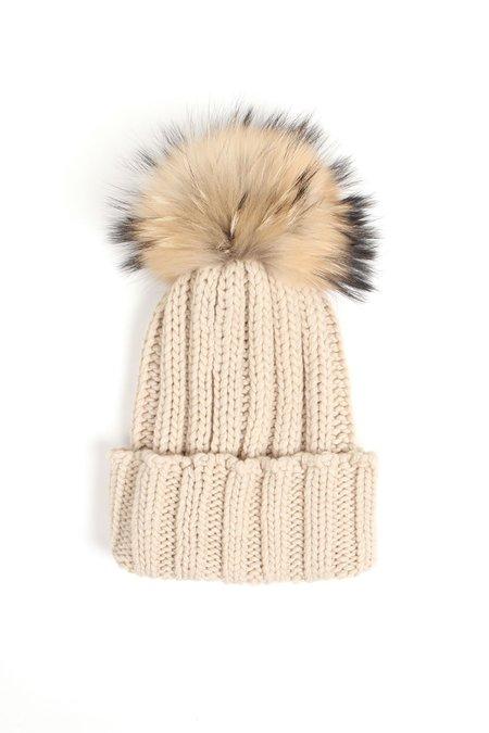 Inverni Pom Pom Hat - Beige