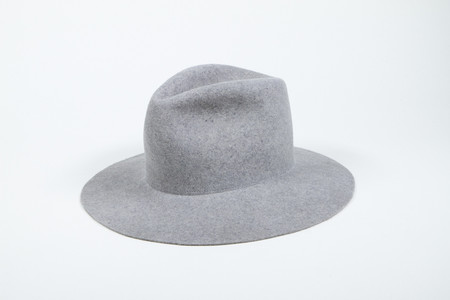 Clyde Pinch Hat in Heather Grey Wool