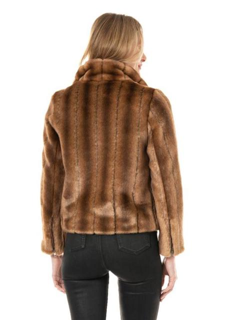 Fabulous Furs Couture Minky Moto Faux Fur Jacket - Fisher Mink