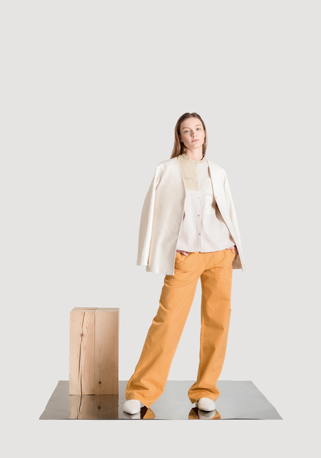 OK KINO Multipocket pants - Yellow ochre